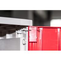 China Corrosion Proof ABS Plastic Lockers Red Door 5 Tier Lockers With Clover Keyless for sale