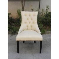 Buy cheap French Antique Style Leather Vintage Button Back Oak Solid Wood Used for Wedding Chair from Wholesalers
