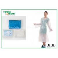 Quality Waterproof Disposable Lab Coats , Transparent Plastic PE disposable visitor coats for sale