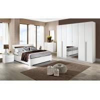Quality White High Gloss Bedroom Furniture Sets 6 Door Mirrored Wardrobe Acid Resistant for sale