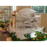 Quality Refined Handmade Architecture House Model With Internal Layout / Furniture for sale