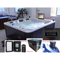 Luxury Portable Rectangular Hot Tubs With 2 Lounger And 3
