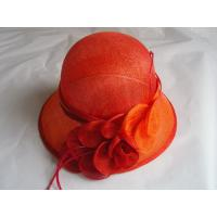 Buy cheap sinamay hat lady red FTC13-25 from Wholesalers
