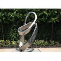 China Metal Modern Outdoor Stainless Steel Garden Ornaments With Matt Finish for sale