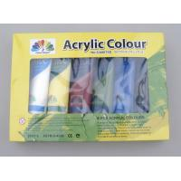 Quality 6 X 75ml Acrylic Paint Tubes Acrylic Paint Starter Colors Set For Wood / Paper / Glass for sale