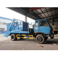 China Dongfeng 4*2 10CBM swing arms garbage truck/skip loader garbage truck, 2017s new dongfeng swing arm garbage truck on sale