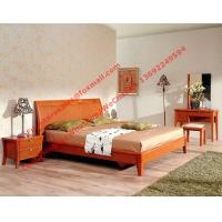 melamine panel with solid wood apartment bedroom furniture in cheap