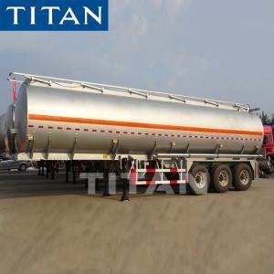 Quality TITAN 3axle 4 Compartments 42cbm 50cbm Diesel Fuel Oil Aluminum Alloy Tanker Truck Semi Tank Trailer for sale