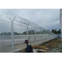 Quality Hot Dipped Galvanized Anti Climb Fence 1/2X3 Inch Opening For Outdoor Prison for sale