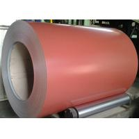 Quality Brown Prepainted Galvalume Steel Coil 55% AZ30-100 Painting 4+14/5-7 for sale