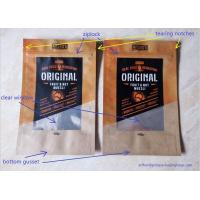Buy cheap Laminated Brown Craft Paper Bags With Transparent Window In Front For Snack Food from Wholesalers