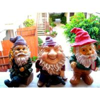 Quality Mini Polyresin Lady Garden Gnome with evergreen hat for planter, terrarium, shelf, or window sill for sale
