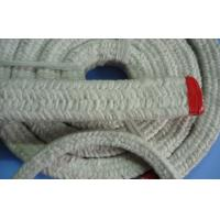 Quality White Square Twisted Ceramic Fiber Rope , Ceramic Fiber Sealing Rope for sale