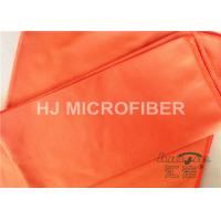China Polyester Microfiber Car Cleaning Cloths Orange , Microfiber Car Drying Towels on sale