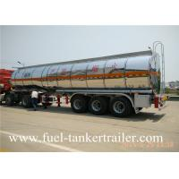 Quality Tri - axle stainless steel fuel tanker trailer for corrosive material transportation for sale