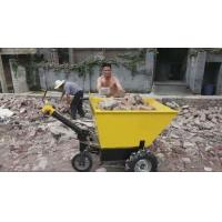 Quality electric wheelbarrow with battery mobile machinery barrow trolley 600kg load capacity for sale