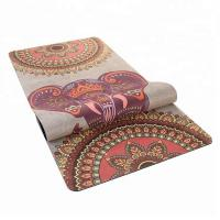 China Non - Slip Durable Rubber Sheet Roll Suede Women Beginners Yoga Mat on sale