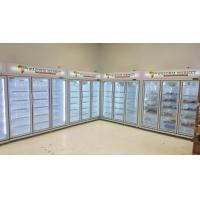 Quality -18 ~ 22℃ Commercial Upright Glass Door Freezer For Meat Chicken / Ice Cream for sale