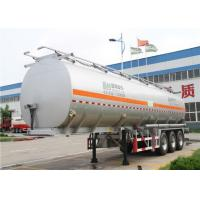 Buy cheap 3 Axles 60 cbm aluminum Alloy Fuel tanker semi trailer / oil tank trailer from Wholesalers