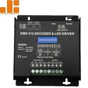Buy DC12-24V Dmx Light Controller / Dmx512 Led Controller 10A / CH X 4 Channels at wholesale prices