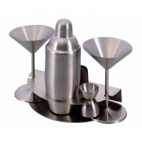 Quality nambe wood and metal barware collection for sale
