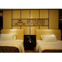 Quality Comfortable Single Bed Wooden Bedroom Furniture With Leather Upholstered for sale