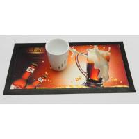 China Eco-friendly Dye Sublimation Nitrile Rubber Bar Mat With 4C Heat Transfer Print on sale