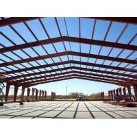 Quality Big Span Warehouse Steel Structure With Red Anti - Rust Painting for sale