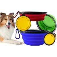 Quality Fancy Soft Silicone Pet Supplies Food Pet Cat Dog Bowl Feeder 175*130*73mm for sale