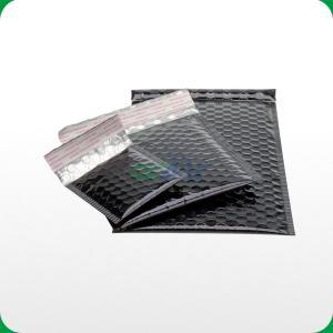 China Black metallic bubble mailer with self-adhesive slip on sale