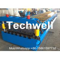 Quality 0.3-0.7mm Galvanized Steel Coil Roofing Sheet Roll Forming Machine With 18 Stations And Hydraulic Cutting for sale