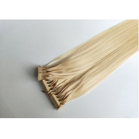 Quality chinese factory supply top quality human hair 50g 613# 28 inch 6D hair extensions for sale