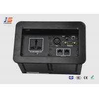 Quality Office Rooms Tabletop Connection Box Socket with AC Power , HD VGA  RJ45 for sale