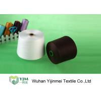 Quality High Tenacity Polyester TFO Yarn , Raw White Polyester Sewing Thread for sale