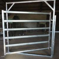 Quality Galvanized  Round Oval 40mm 6-bar Rail Livestock Sheep Panels for sale