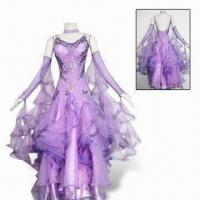 Quality Lycra Ballroom Dresses in New Style, Customized Sizes are Accepted, Decorated with Korean Stones for sale