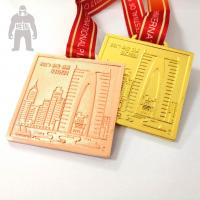 Quality Golden  Silver Metal  Square Medal   For Trophies   Stainless Steel Material for sale