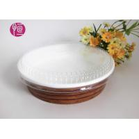 Buy cheap 10oz Single Wall Paper Salad Bowls With Flat Lid Waterproof Wood Deisgn from wholesalers