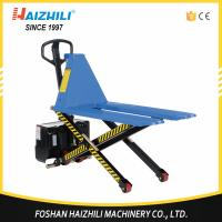 Hot selling 1000kg high lift electric scissor lift pallet truck