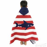 Buy cheap Children Hooded Towel 100% Natural Cotton Beach Poncho Towels Swim Bath Towels from wholesalers