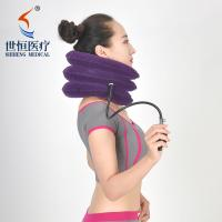 Buy cheap Red/purple/blue/grey color neck traction device breathable cervical collar soft from wholesalers
