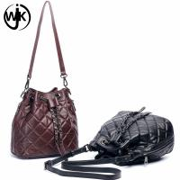 Quality New design hot sale popular ladies leather bucket bag custom leather strap for bag for ladies tote leather handbag for sale