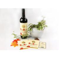Multi Color Screen Printing Wine Sticker Labels With Water Base Glue
