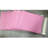 Buy cheap Custom Aluminum Foil Pink Metallic Bubble Envelope Moisture Proof from Wholesalers