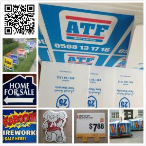 "24x18 Custom Screen Printing Yard Signs , 96"" X 48"" Lawn Signs"