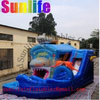 Quality hot sell inflatable shark slide combo for sale