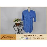 China Leaf brushed terry kimono style Fleece Bathrobes for spring with absorb water fabric on sale