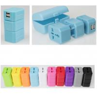 Buy Tourism Day 5.5V AC DC Travel Power Plug Adapter 2.1A Dual USB Charger at wholesale prices