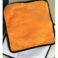 Quality Microfiber 30*30cm 400gsm Orange Colorful Coral Fleece 200gsm Suede Car Cleaning Cloth for sale