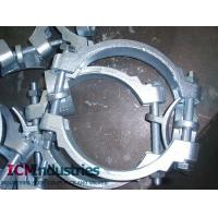 China Carbon steel white znic double bolts clamp on sale